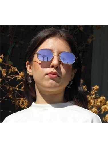 Optoline Opc 17004 05 Altıgen Kahv  Gövde Kahe Polarize Cam Kadın Güneş Gözlüğü Kahve